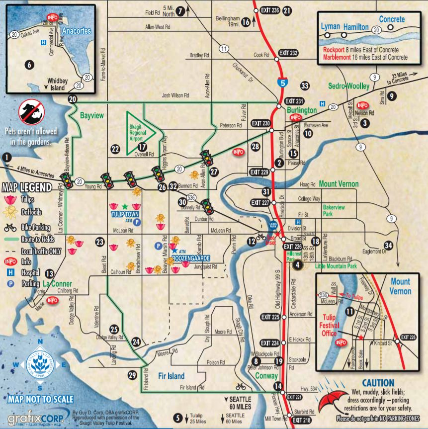 Skagit Valley Driving Map