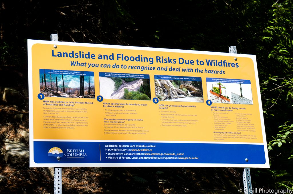 landslide and flooding risk due to wildfires