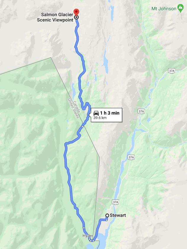 Stewart to Salmon Glacier