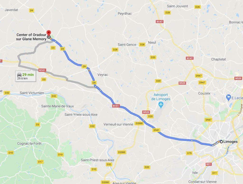 Limoges to Oradour