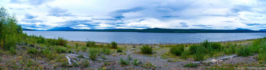 Panorama of Teslin Lake